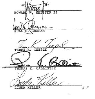 Bylaws Signatures
